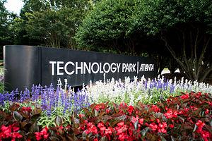 Peachtree Corners, Georgia -  Entrance to Technology Park Atlanta