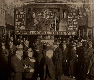 Teddy at the Throttle - A theater advertising Teddy at the Throttle
