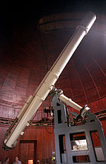 50 cm refracting telescope at Nice Observatory.