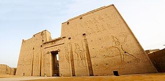 Edfu - Image: Temple of Horus at Edfou, Egypt panoramio (2)