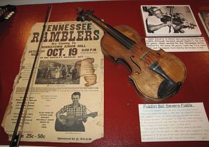 Tennessee Ramblers (Tennessee band) - Tennessee Ramblers display at the Museum of Appalachia
