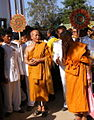 Thai Buddhist monk & fan of Thai monk rank 02.jpg