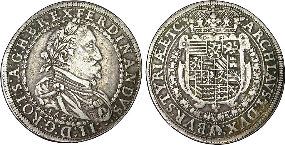 Thaler %C3%A0 l%27effigie de Ferdinand II, 1626