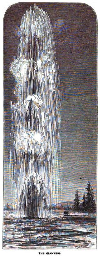 Giantess Geyser - Image: The Giantess Scribners 1871Moran