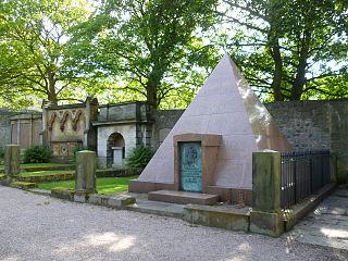 Dean Cemetery historic Victorian cemetery in western Edinburgh