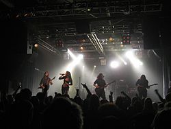 I The Agonist in concerto a Helsinki nel 2010