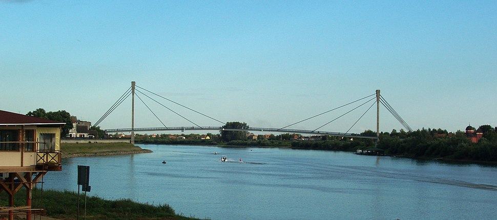 The Bridge of St Ireney above the Sava river