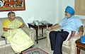 The Chief Minister of Delhi, Smt. Sheila Dikshit meeting the Deputy Chairman, Planning Commission, Shri Montek Singh Ahluwalia to finalize annual plan 2009-10 of the State, in New Delhi on August 21, 2009.jpg