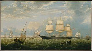 The Golden State Entering New York Harbor