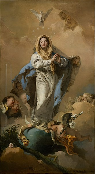 Giovanni Battista Tiepolo - The Immaculate Conception, painted between 1767 and 1768