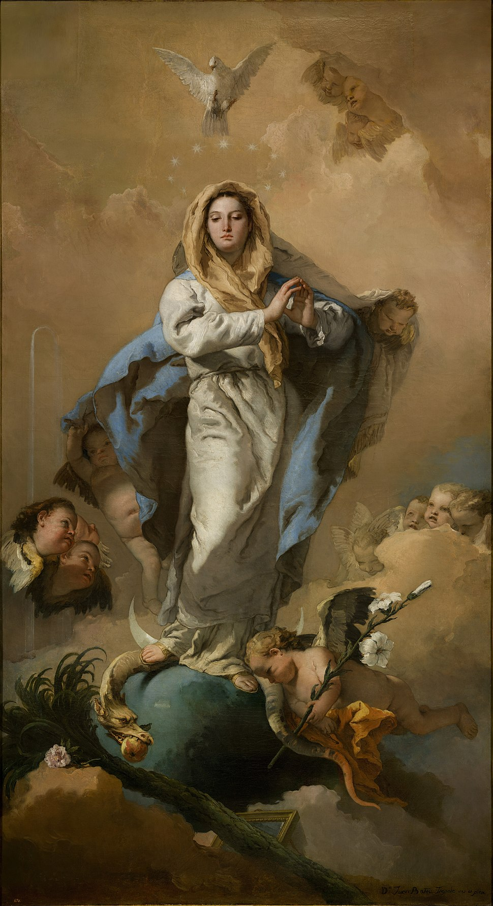 The Immaculate Conception, by Giovanni Battista Tiepolo, from Prado in Google Earth