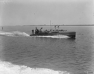 Arthur Watts (illustrator) - A naval motor launch of World War I