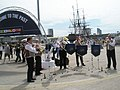 "The Maritime Brass Ensemble entertain the crowds at Portsmouth Dockyard's ""Meet the Navy"" weekend - geograph.org.uk - 900425.jpg"