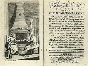 Christopher Smart - Title page of The Midwife