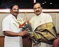 The Minister for Tamil Official Language, Tamil Culture and Archaeology, Tamil Nadu, Shri K. Pandiarajan meeting the Minister of State for Culture (IC) and Environment, Forest & Climate Change, Dr. Mahesh Sharma, in New Delhi.jpg