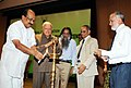The Minister of State for Agriculture, Consumer Affairs, Food & Public Distribution, Prof. K.V. Thomas lighting the lamp to inaugurate the National Consultation on Agriculture Extension, in New Delhi on November 01, 2010.jpg