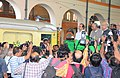 The Minister of State for Railways, Shri Adhir Ranjan Chowdhury flagging off a local train at Sealdah Railway Station, in Kolkata on February 05, 2013.jpg