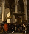The Oude Kerk in Amsterdam during a Service by Emanuel de Witte Mauritshuis 824.jpg