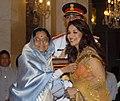 The President, Smt. Pratibha Devisingh Patil presenting the Padma Shri Award to Ms. Madhuri Dixit.jpg