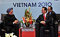 The Prime Minister, Dr. Manmohan Singh at a bilateral meeting with the Prime Minister of Vietnam, Mr. Nguyen Tan Dung, during the ASEAN Summit, in Hanoi, Vietnam on October 30, 2010 (1).jpg