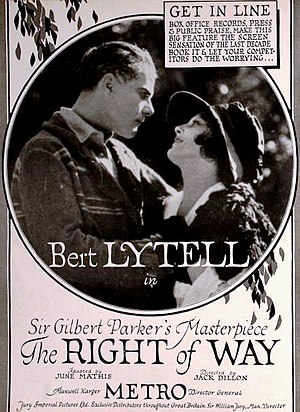 The Right of Way (1920 film) - Image: The Right of Way (1920) Ad 2