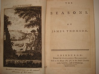 James Thomson (poet, born 1700) - The frontispiece of  The Seasons by James Thomson. Published by Alexander Donaldson.