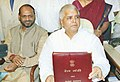 The Union Minister of Railways Shri Lalu Prasad giving finishing touches to the Railway Budget, 2004 - 2005 in New Delhi on July 5, 2004.jpg
