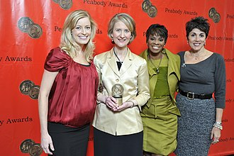 WFLD - WFLD news staff at the 69th Annual Peabody Awards in 2010, at which the station's news department won for its reporting on the beating death of Derrion Albert.