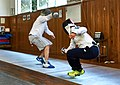 The fencers Alexandros Kanellis and Agapitos Papadimitriou at Athenaikos Fencing Club.jpg