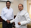 The former Tennis player, Shri Vijay Amritraj calling on the Minister of State for Youth Affairs and Sports (IC), Water Resources, River Development and Ganga Rejuvenation, Shri Vijay Goel, in New Delhi on April 11, 2017.jpg