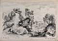 The fugitive holy family find rest. Etching by C. Macé after Wellcome V0034676.jpg