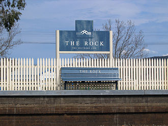 Main Southern railway line, New South Wales - The Rock station