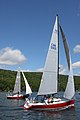 "The sailboats Morgan ""D"" a C&C 27 Mk.III, and Koobalibra, a C&C 115, competing in the Great Bras d'Or Cup, Leg 3 of Race the Cape 2013 03.jpg"