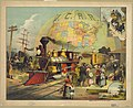The world's railroad scene - Swain & Lewis, des. & lith. 103 State, Chicago. LCCN2008677250.jpg