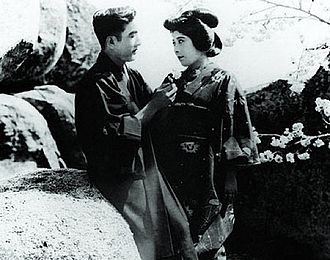 Sessue Hayakawa - Hayakawa and his wife, Tsuru Aoki, in the film The Dragon Painter (1919)