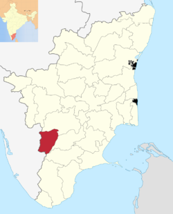 Location of Theni district
