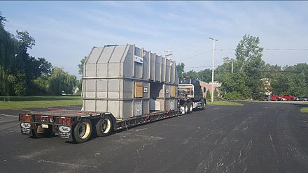 Loading of a thermal oxidizer at the point of origin en route to a manufacturing plant Thermal-oxidizer-logistics.jpg