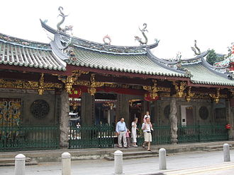 Chinese Singaporeans - Thian Hock Keng is the oldest Hokkien temple in Singapore.