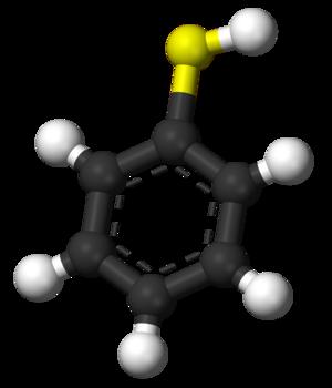 Thiophenol - Image: Thiophenol 3D balls