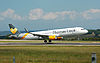 Thomas Cook Airlines A321 (G-TCDE) lands Bristol 22.6.14 arp.jpg