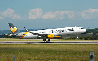 Thomas Cook Group - An Airbus A321 of Thomas Cook Airlines lands at Bristol Airport