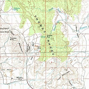 Topaz Mountain Utah Map.Thomas Range Wikipedia