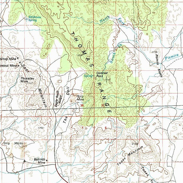 Thomas Range Topographic Map USGS Thomas Range Utah Topographic map USGS.jpg