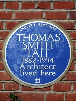 Thomas smith tait 1882 1954 architect lived here