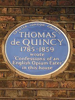 Thomas de quincey   blue plaque