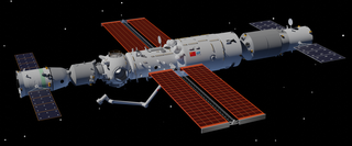 Tiangong space station Chinese space station in low Earth orbit