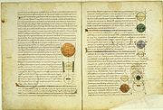 Medieval manuscript of Calcidius' Latin Timaeus translation.