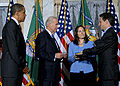 Timothy Geithner sworn in as Treasury Sec'y 1-26-09.jpg