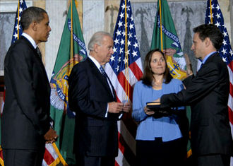 Timothy Geithner - Geithner was sworn in as Treasury Secretary on January 26, 2009