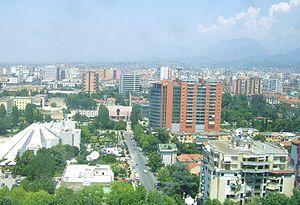 Panorama di Tirana
